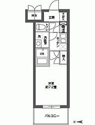 CASSIA高井田SouthCourt[0203号室]の間取り