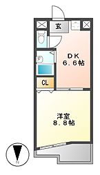 メゾンコロル[4階]の間取り