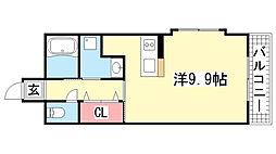 ジアコスモ神戸三宮[4階]の間取り