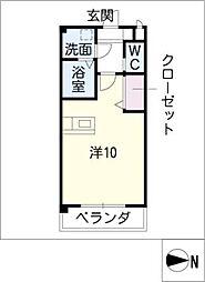 Excel Court 櫻[3階]の間取り