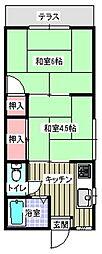 アパートメント平川[102号室]の間取り