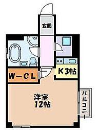 愛知県名古屋市中区千代田3丁目の賃貸アパートの間取り