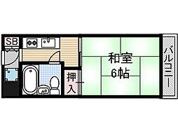 ベルコート茨木[4階]の間取り