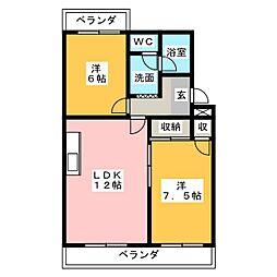 オズハウス6[2階]の間取り