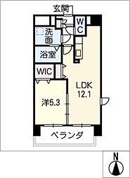 仮)津市南新町マンション[4階]の間取り