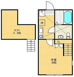 神奈川県相模原市緑区大山町の賃貸アパートの間取り