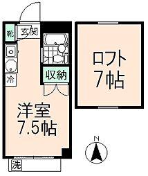 エルム高幡A棟[3階]の間取り