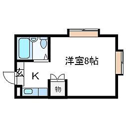 コーポ朝風[22号室]の間取り