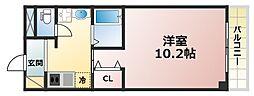 六甲雅ハイツ[2階]の間取り
