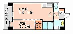 ルッシェ博多駅東[4階]の間取り