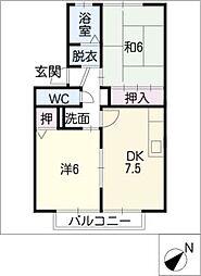 ファミールSAITO[2階]の間取り