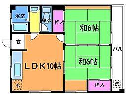 大林マンション[2階]の間取り