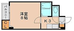 ピュア箱崎[2階]の間取り