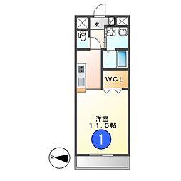愛知県名古屋市中区錦2の賃貸マンションの間取り