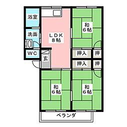 ケヤキハイツII[2階]の間取り