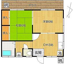 [一戸建] 千葉県松戸市西馬橋4丁目 の賃貸【/】の間取り