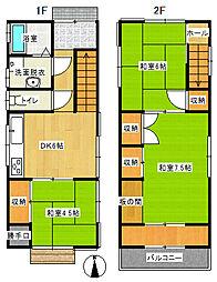 [一戸建] 愛媛県新居浜市上泉町 の賃貸【/】の間取り