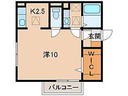 フォースクエア岡田[1階]の間取り