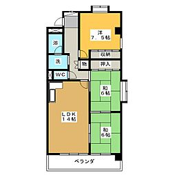 メゾン花池[2階]の間取り