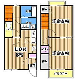 [テラスハウス] 東京都西多摩郡日の出町大字大久野 の賃貸【/】の間取り