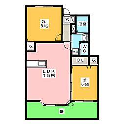 セゾン美江[2階]の間取り
