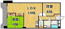 警固ハウス[4階]の間取り