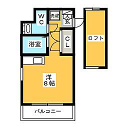 RJR博多駅東[4階]の間取り
