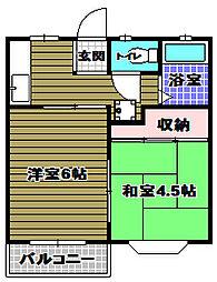 ハイツエンデバーI[1階]の間取り