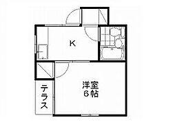 新潟県新潟市中央区水島町の賃貸アパートの間取り