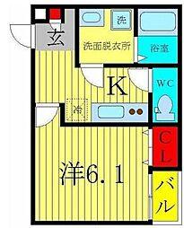 レオズマバシ03[2階]の間取り