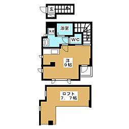 OGI-SUN 2階ワンルームの間取り