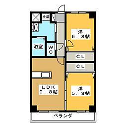 ルネス・ユートピア[3階]の間取り