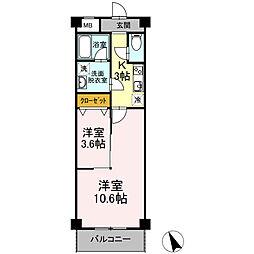 神奈川県厚木市愛甲西1丁目の賃貸アパートの間取り
