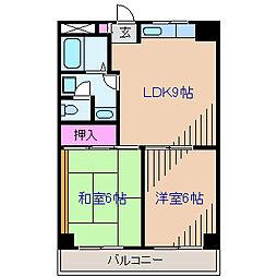 新横浜ミユキマンション[5階]の間取り