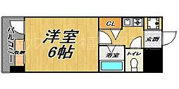 ピュアドームサクセス平尾[2階]の間取り