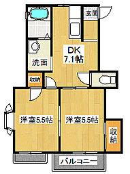 アークミヤシモA[2階]の間取り