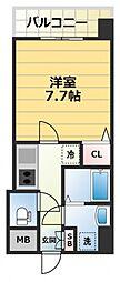S-RESIDENCE緑橋駅前[6階]の間取り