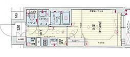 Osaka Metro谷町線 四天王寺前夕陽ヶ丘駅 徒歩5分の賃貸マンション 6階1Kの間取り