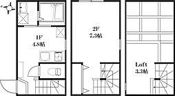 ハーミットクラブハウス平町[2階]の間取り