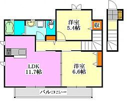 LEON[2階]の間取り