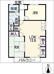 パークハウス[2階]の間取り