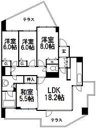 北海道札幌市西区発寒六条13丁目の賃貸マンションの間取り