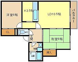 コートロッジパート1[2階]の間取り