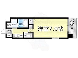 Osaka Metro千日前線 桜川駅 徒歩10分の賃貸マンション 6階1Kの間取り