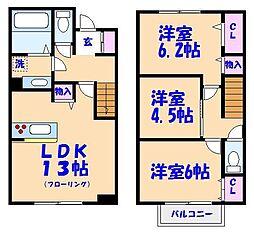メゾン ド SATOMI[1階]の間取り
