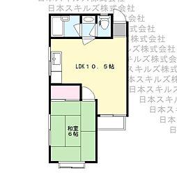 ロワール栗木台[4階]の間取り