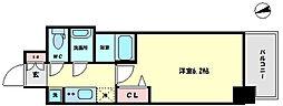 プレサンス難波インフィニティ 9階1Kの間取り
