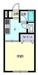 アラモード[203号室]の間取り