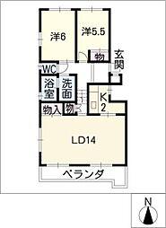 アビタシオン白壁[3階]の間取り