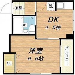 中ノ島ハイム[8階]の間取り